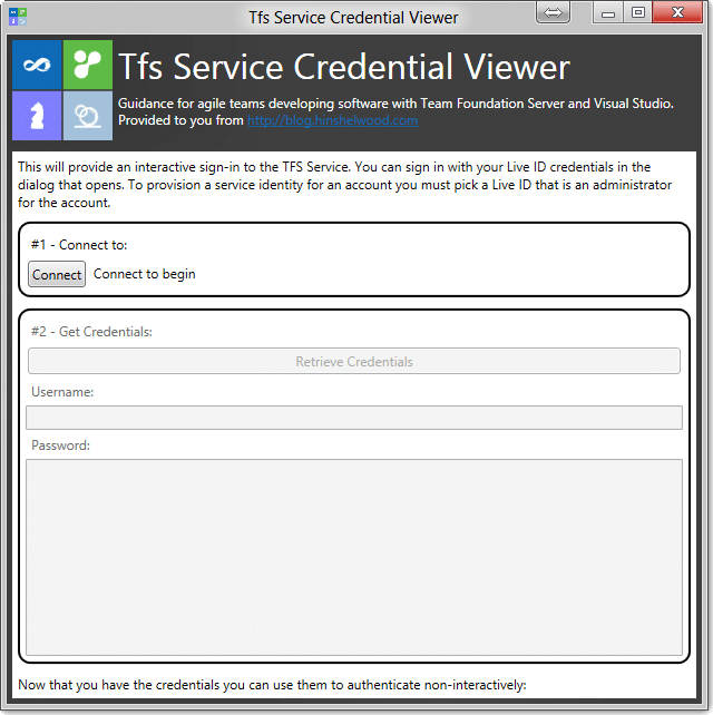 Getting a service account for VSO with TFS Service