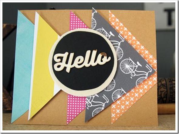 Hello Card Triangle