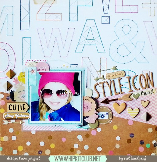 12*12 layout created by Irit Landgraf using the March Hip Kit Club kits #hipkitclub @hipkitclub #scrapbookingkit