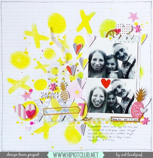 12*12 layout created by Irit Landgraf using the May 2015 Hip Kit Club kits and a cut file by Ashley Horton #hipkitclub @hipkitclub #scrapbookingkit