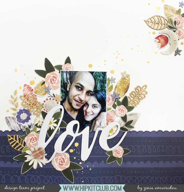 Scrapbook Layout by Zinia Amoiridou @abstractinspiration