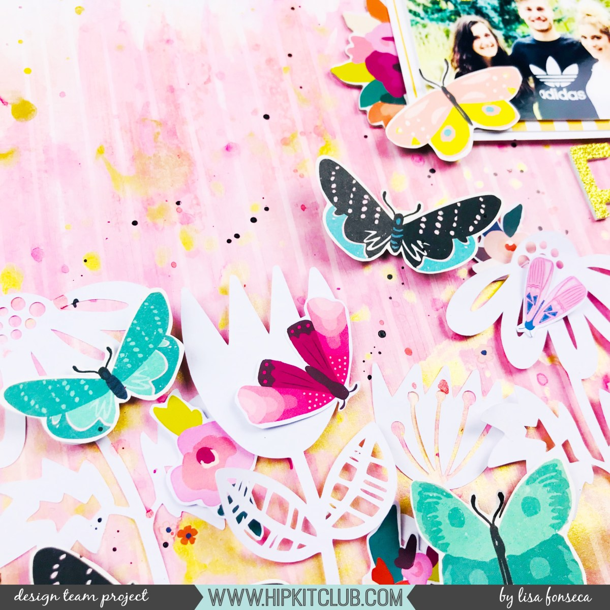 The fam - Product focus, flowers and butterflies - Lisa Fonseca