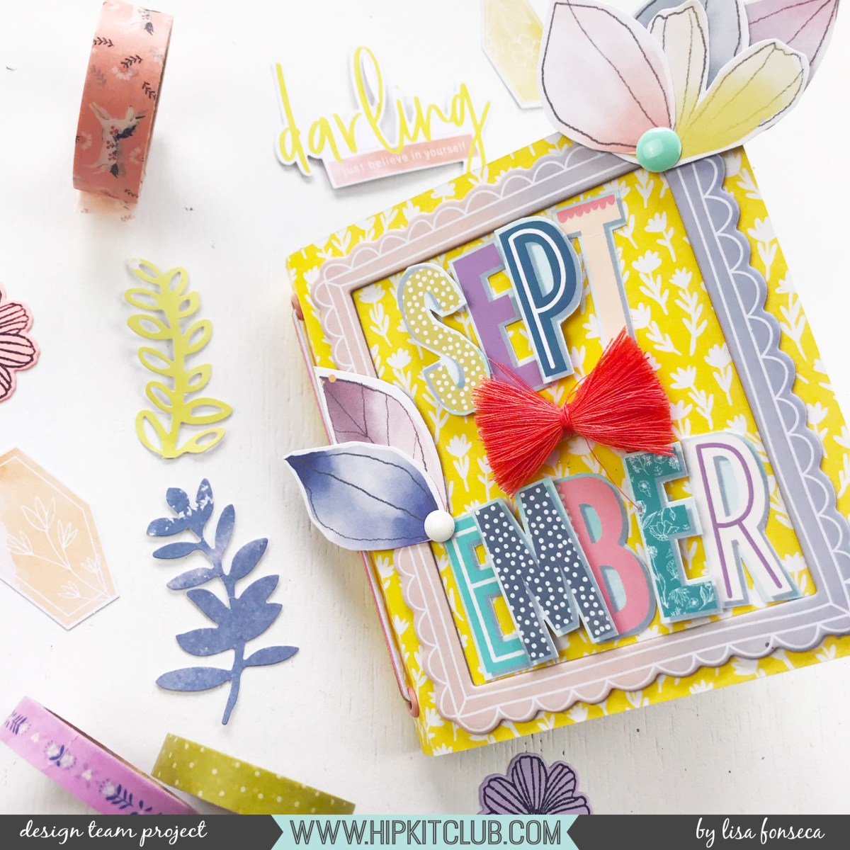 Mini Album using the September kits