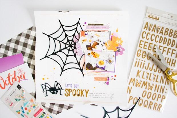 LetsGetSpooky_ScatteredConfetti_ScrapbookingLayout_HipKitClub_October_Halloween_2
