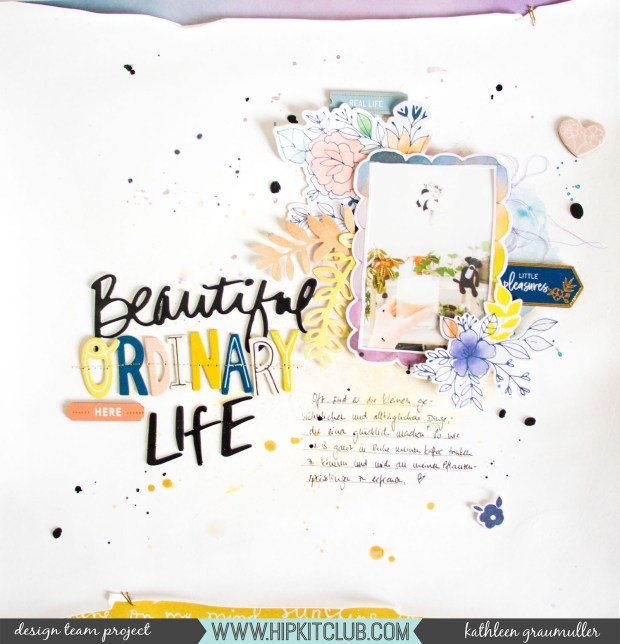 OrdinaryLife_ScatteredConfetti_Scrapbooking_Layout_HipKitClub_September2018_1