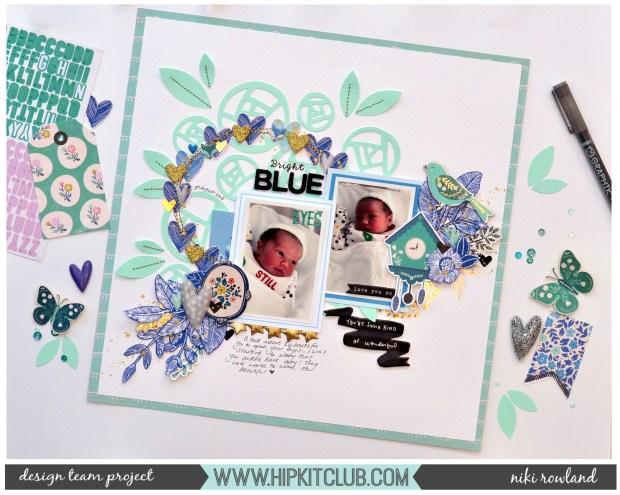 Bright Blue Eyes Niki Rowland Hip Kit Club August 2018 Maggie Holmes Willow Lane staged