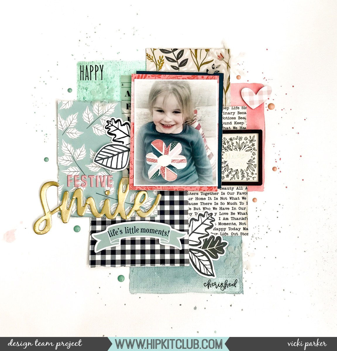 Festive Smile - holiday layout using the November kit | Vicki Parker