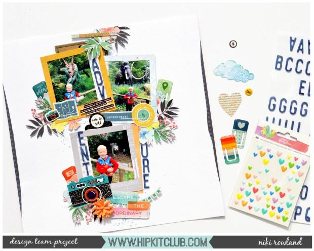 Adventure Niki Rowland Hip Kit Club June 2019 Pinkfresh Studio Out & About Scrapbooking Simple Stories Sunshine and Blue Skies Vicki Boutin Color Kaleidescope Set