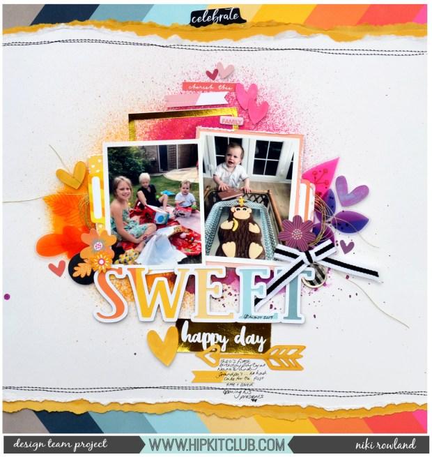 Sweet Happy Day Niki Rowland Hip Kit Club October Amy Tan Slice of Life