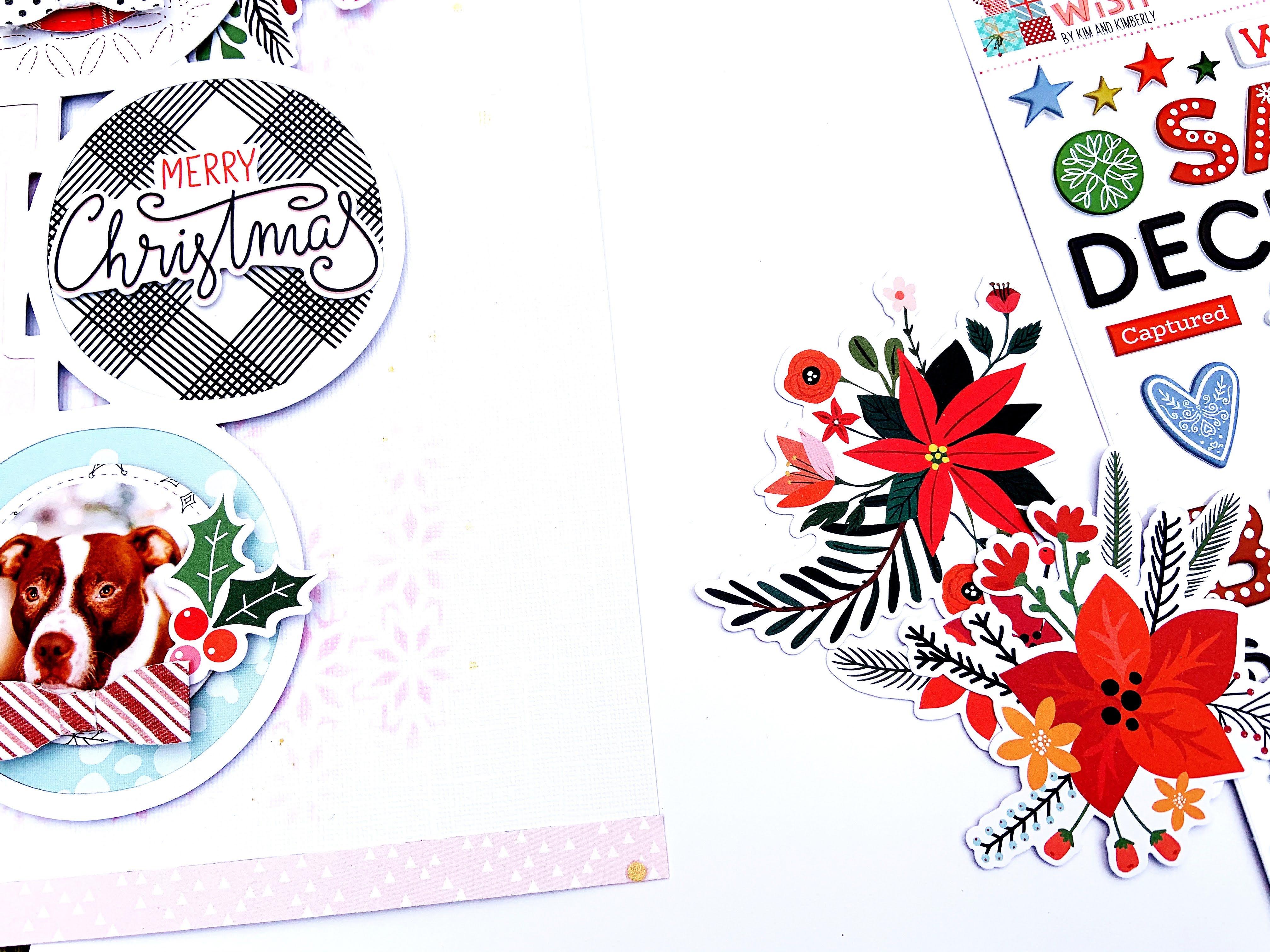 HO HO HO Santa Scrapbook Page Kit