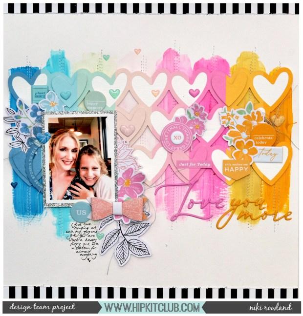 Love You More Niki Rowland Pinkfresh Studio My Favorite Story Lindy's Stamp Gang Magical Scrapbooking Mixed Media