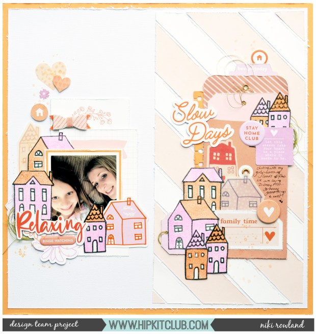 Slow Days Niki Rowland Hip Kit Club June 2020 Pinkfresh Studio Let's Stay Home stamping scrapbooking
