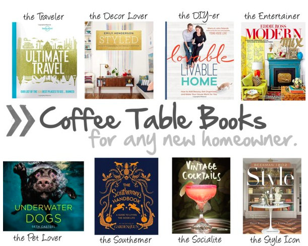 what are the best coffee table books for my new home?