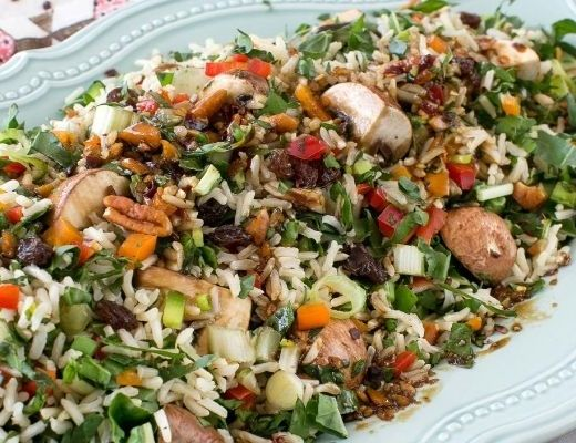 Brown Rice and Spinach Salad
