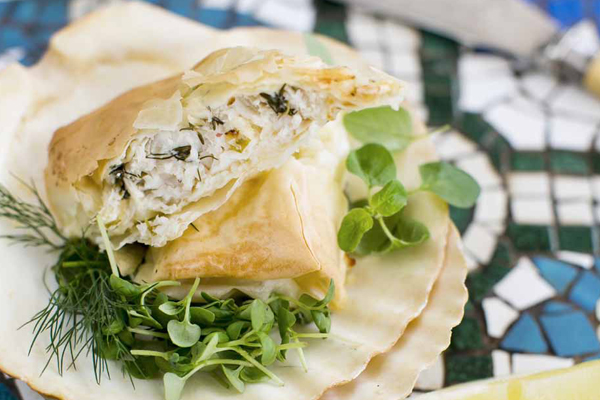 Lemon And Herb Fish In Phyllo Pastry