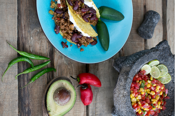 Mexican Beef Tortilla with Salsa