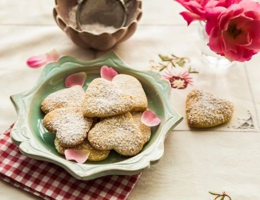 Delicate Rose and Rosemary Shortbread