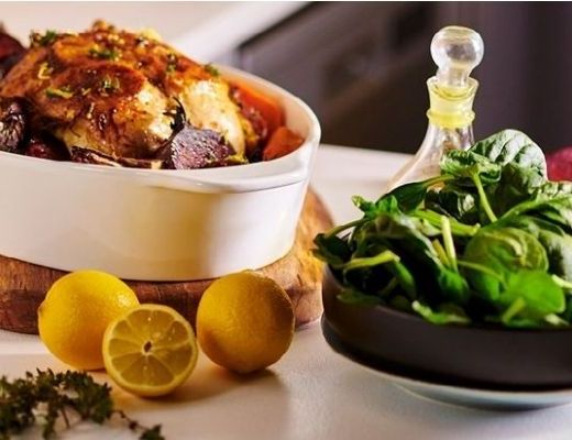 Roast Citrus Chicken with Root Vegetables