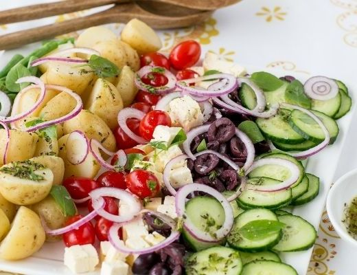 New Potato and Rosa Tomato Salad Nourish your mind as you would your body. You cannot survive on junk food alone. This New Potato and Rosa Tomato Salad is not only attractive; it is simply delicious!