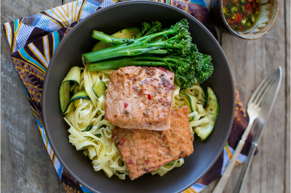 Ginger Salmon with Chilli