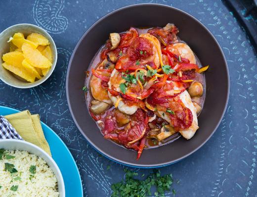 Spanish orange Chicken casserole