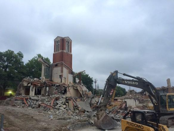 First Baptist Church of Silver Spring demolition, September 2015.