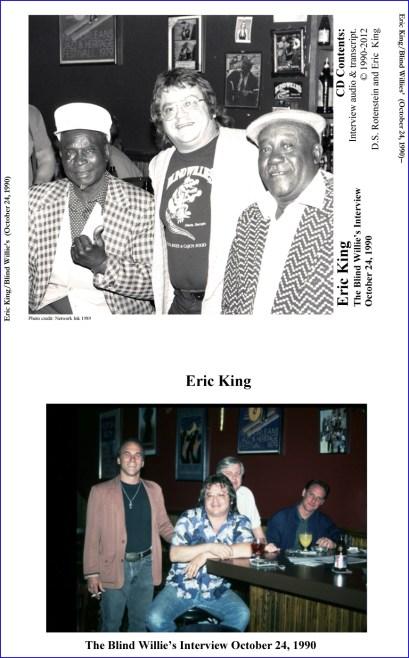 Eric King-CD Case insert