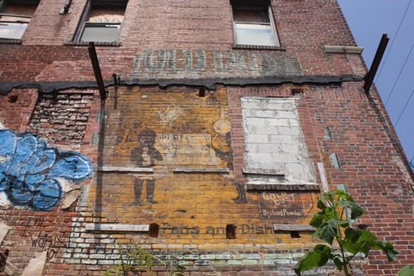 Atlanta Life Insurance Co. Building, east facade, June 2014. Gold Dust mural.