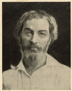 Walt Whitman, c. 1854. Credit: Library of Congress, LC-DIG-ppmsca-08542