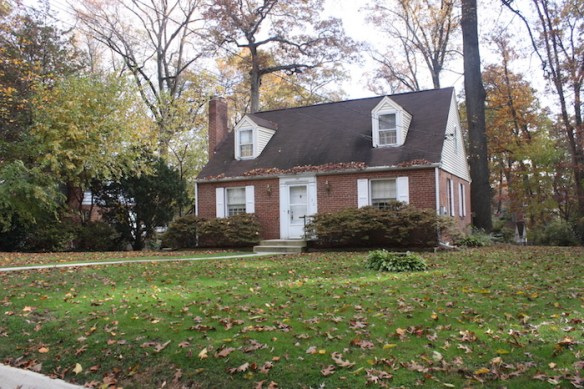 1930s period revival home, Silver Spring.