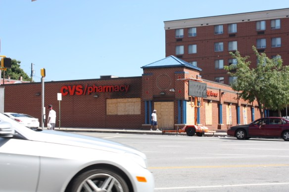 CVS store, Pennsylvania Ave. and North Street. Burned in April 2015.
