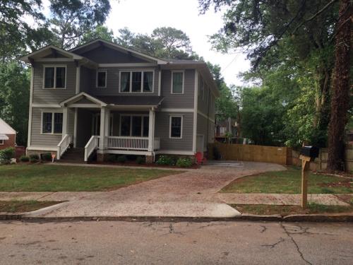 New home, 100 block Lenore Street, Decatur, 2015.