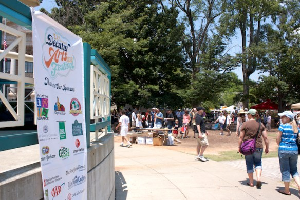 """Lacking tradition-bound community festivals, Decatur has created an annual festival cycle celebrating the arts, books, beer, and wine. The city's spurious festival culture originated with an official """"beach party"""" in the 1980s."""