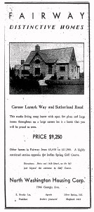 Fairway advertisement published in the Washington Post, July 11, 1937.