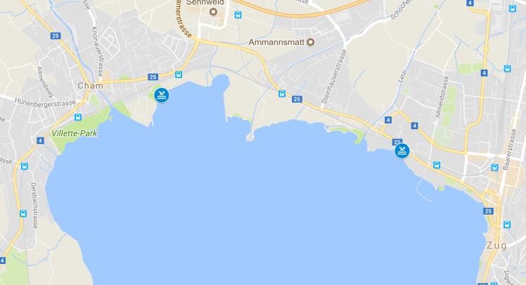 Swimming Spots Zug