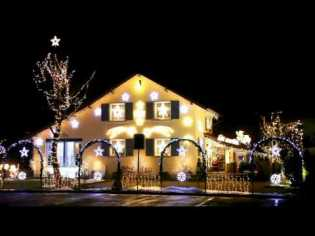 Christmas lights in Lyss (canton Berne)