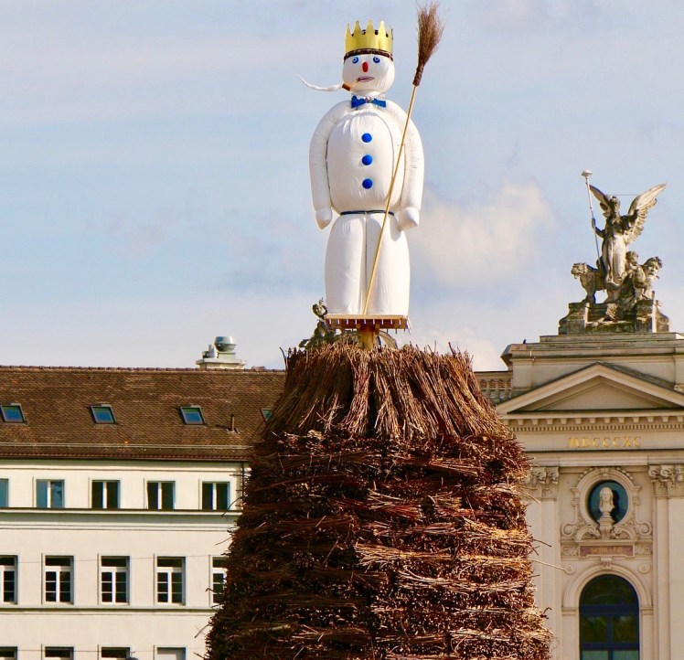 The böögg - the symbolic snowman at the Sechseläuten tradition