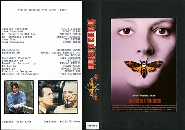 The Silence Of The Lambs VHS