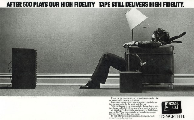 Maxell tape advert