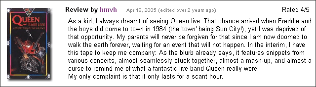 Queen - Rare Live VHS review