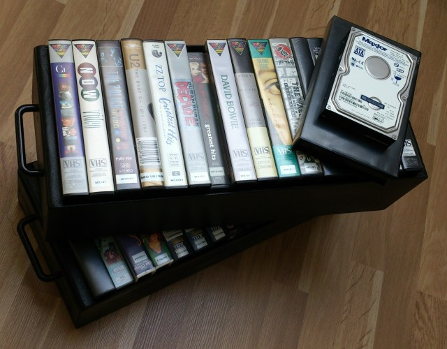The last remaining VHS tapes