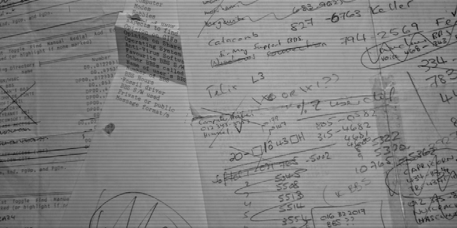 Loose, hand-scribbled BBS notes