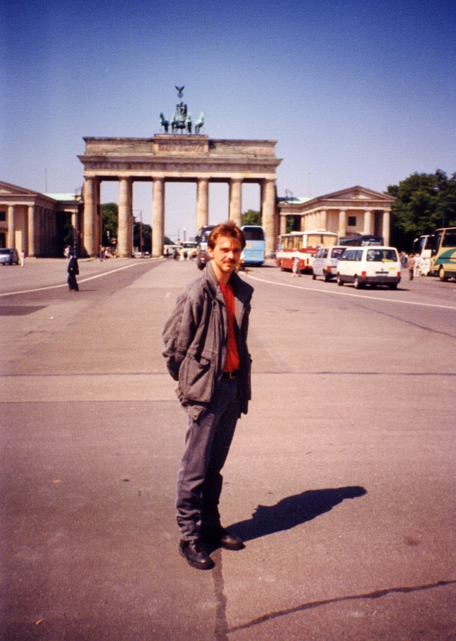 Yours truly in Berlin. Photo by Karl Gangl.