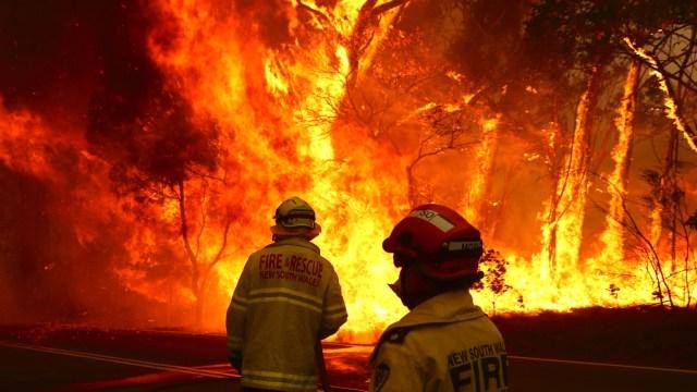 The world's ablaze (image via News Corp)