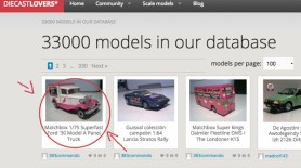 October 2014, 33000 models in Diecastlovers' database
