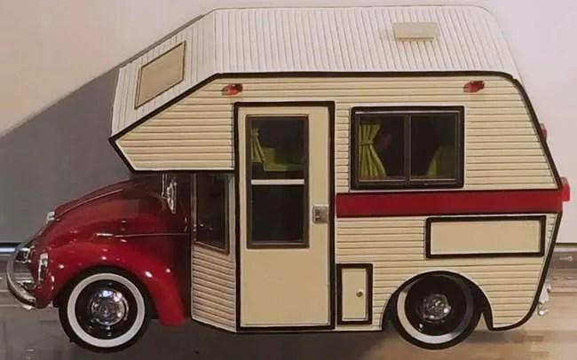 Schuco Volkswagen Beetle VW Bug camper