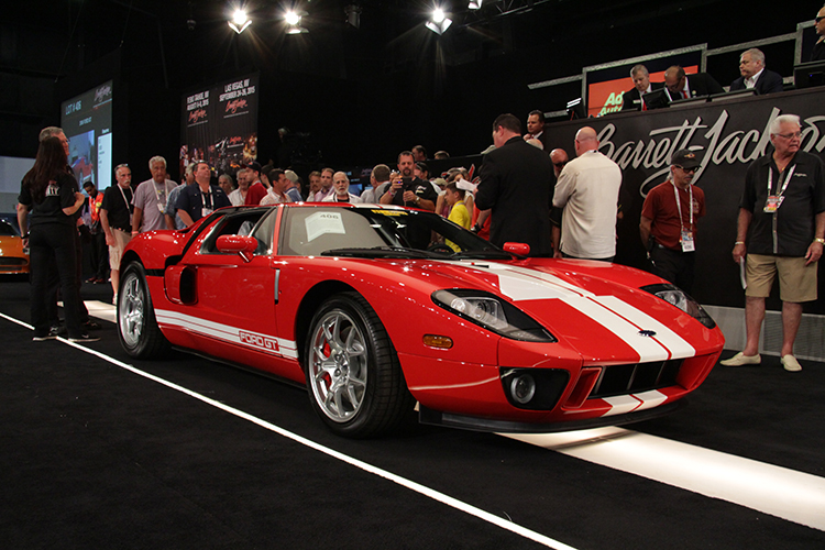 Barrett-Jackson is one of th best places to sell a 2006 Ford GT