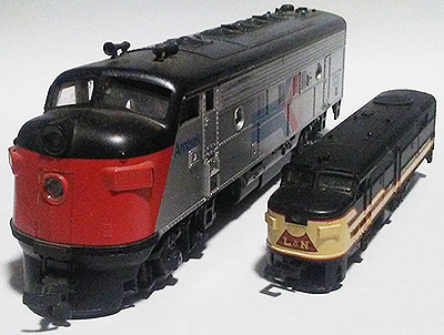 ho and n scale locomotives