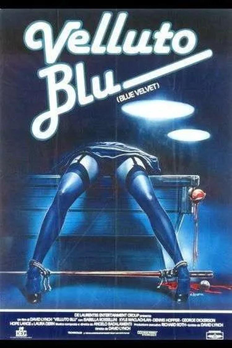 Blue Velvet Italian Movie Poster, David Lynch