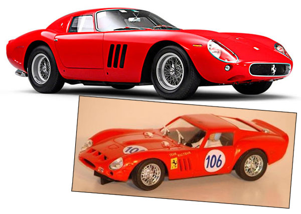 pink kar Ferrari 250 GTO